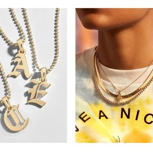 """Baublebar Roxana Initial Charm Necklace """"H"""""""